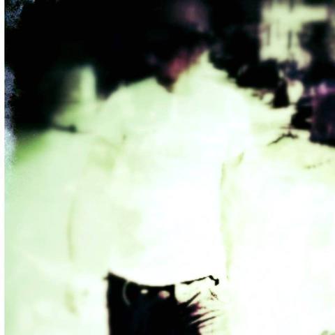 Cool blurry guy blurred background Foto