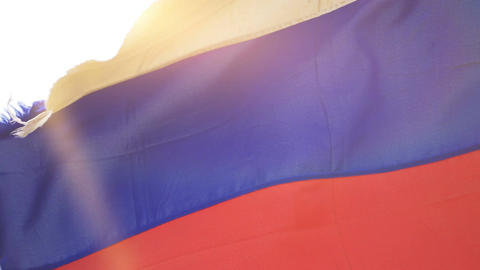 Video of Russian Federation flag in 4K Live Action