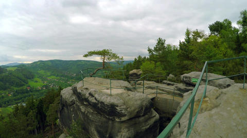 Lookout from the top of the sand rocks ビデオ