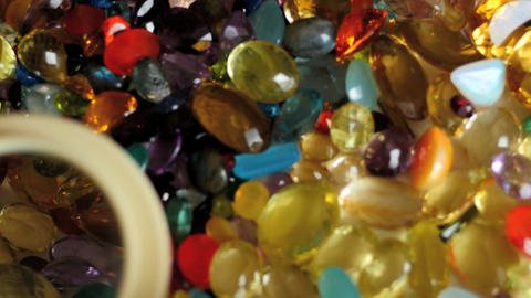 gemstones research with magnifying lens smooth zoom Footage