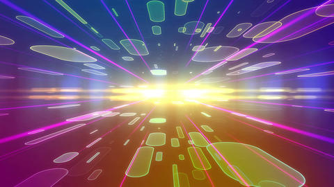 Abstract colorful futuristic backdrop with ovals Animation