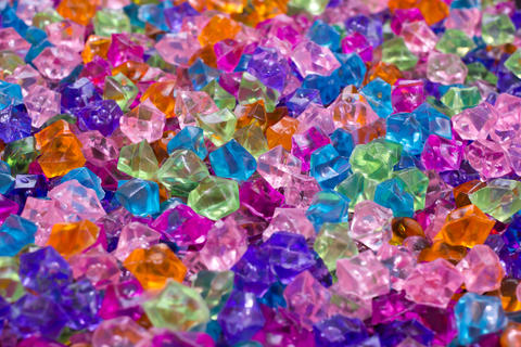 Colorful crystals background Photo