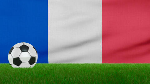 Ball on the france flag Footage