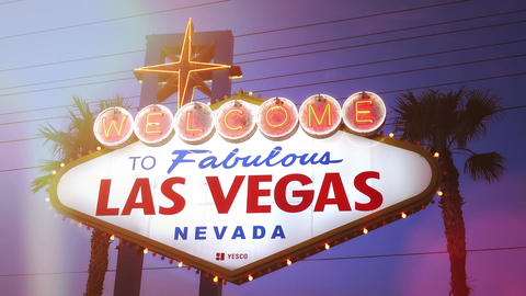 Video of welcome to fabulous Las Vegas Sign in 4K Footage