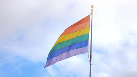 Video of LGBT flag in 4K Image