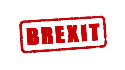 Stamp Brexit CG動画素材