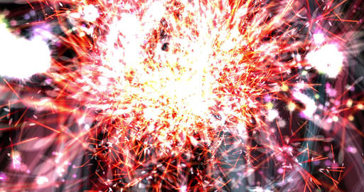 Digital Particle Animation of a Firework Animation