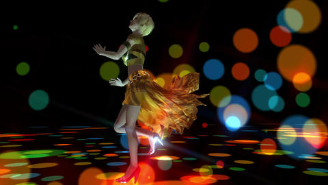 Digital 3D Animation of a dancing Girl Animation