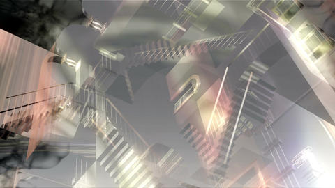 [alt video] Digital 3D Animation of a surreal Interior