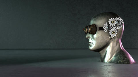 Steampunk Head gear animation background Image