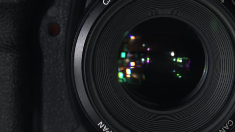 Closeup of a Photographic lens Footage