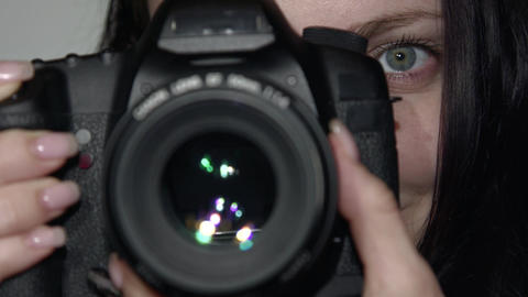 Photographer close-up takes the Picture Footage