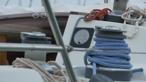 Nautical Gauge and Ropes Footage