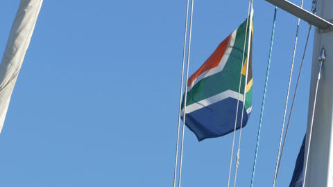South Africa Flag on Mast Archivo