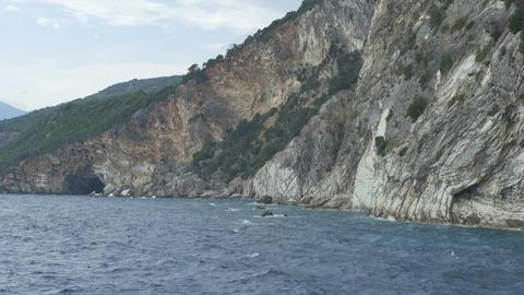 Greece Rocky Sea Shore Footage