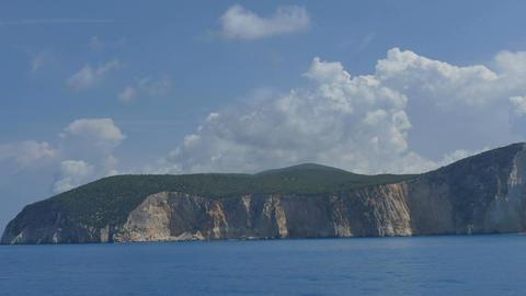 Lefkada Island Seen from Sea Footage