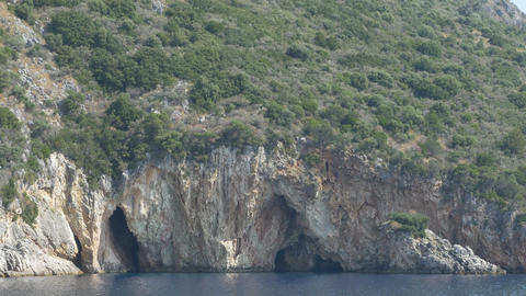 Rocky Cliffs Shoreline Footage