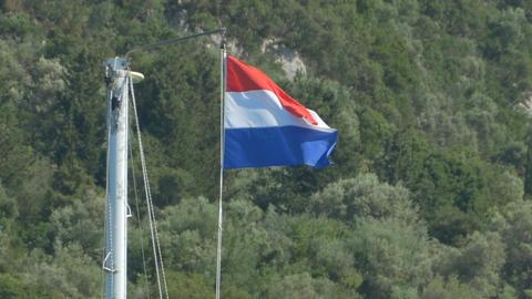 Holland Flag on Mast Image