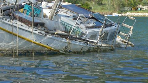 Shipwreck near Shore Footage