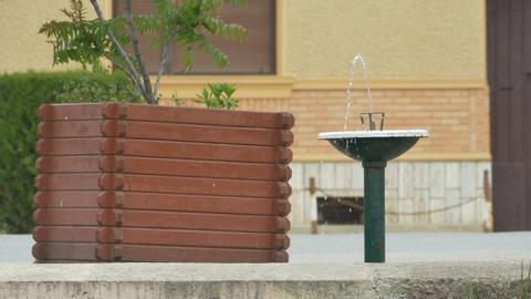 Street Sidewalk Fountain Footage