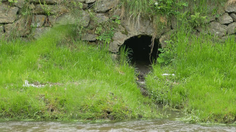 Sewage in the River Footage