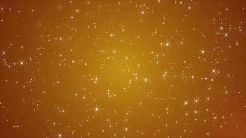 Golden Abstract seamless loop particle blinking background Image