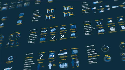 Infographics pictures After Effects Template