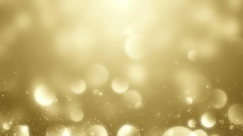 Particles gold bokeh glitter awards dust abstract background vj loop 画像