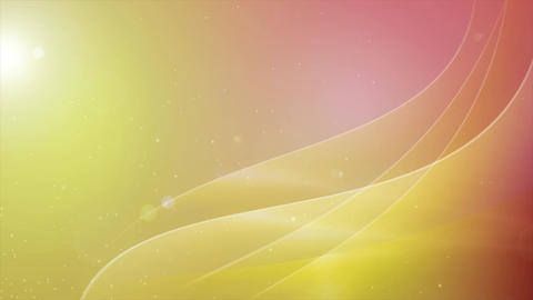 Abstract Motion Background Shining Waves and Particles... Stock Video Footage