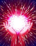 Heart Hand Light Beam Magic Power Love Background Red ベクター