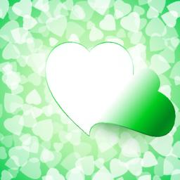 Light Open Cut Heart Background Green Vektor