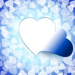 Open Heart Love Light Cut Background Blue ベクター