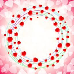 Heart Love Round Circular Swirl Around Background Red Vektor