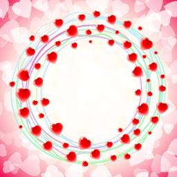 Heart Love Round Circular Swirl Around Background Red ベクター