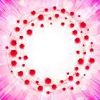 Heart Love Valenitines Background Frame Circle Swirl Card Around ベクター