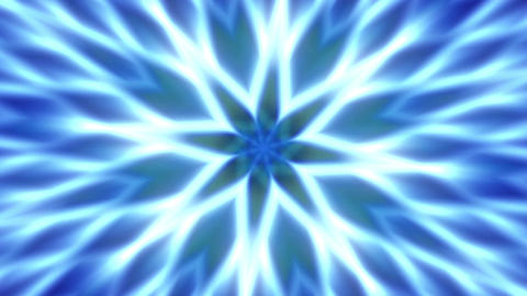 Blue Flower Expanding Mandala Abstract Motion Background Loop 1 Animación