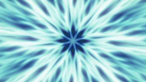 Blue Flower Expanding Mandala Abstract Motion Background Loop 3 Animation
