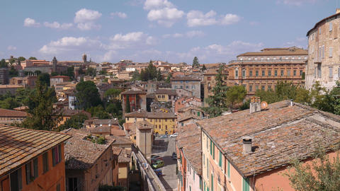 Panorama of Perugia, Umbria, Italy Live Action