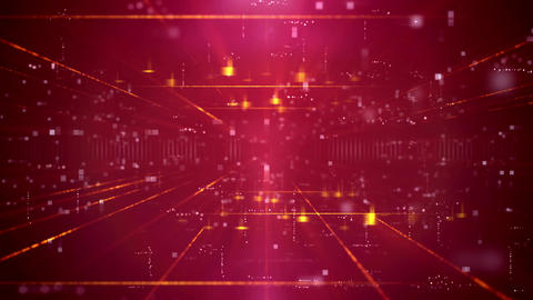 Modern Red Business Technology Background Animation