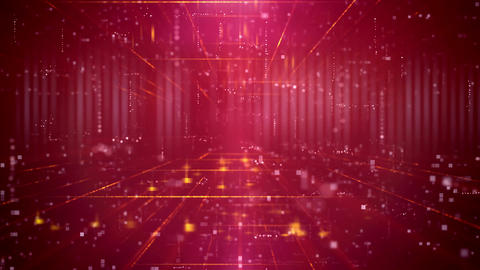 Red Technology Futuristic Seamless Loop Background Animation