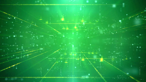 Modern Green Business Technology Background Animation