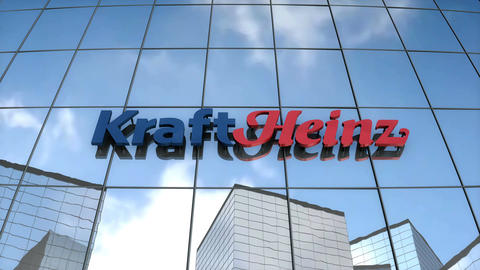 Editorial KraftHeinz logo on glass building Animation