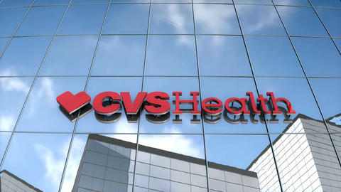 Editorial CVSHealth logo on glass building Animation