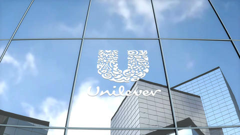 Editorial Unilever logo on glass building Animation