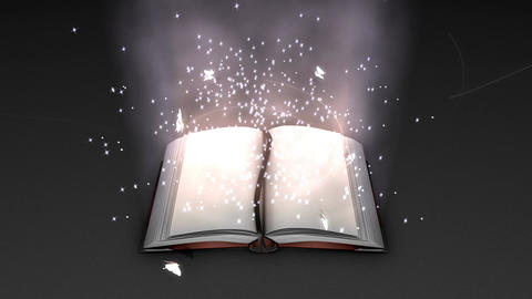 Fantasy and magical book animation Stock Video Footage