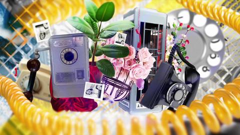 Old Vintage Black Retro Telephone Footage