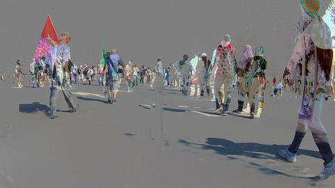 Timelapse walking People, Different Time contrast Image