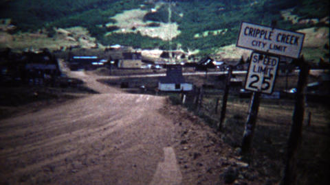 1972: Cripple Creek city limits speed limit sign western small town Live Action