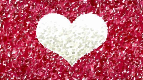 Hand painting heart symbol animation Animation