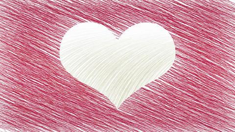Drawing heart symbol animation Animation